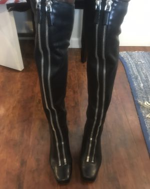 Alexander Wang thigh high leather boots women size 7.5 for Sale in Concord, CA