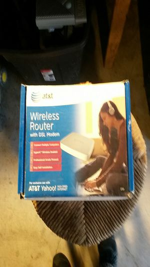 AT&T wireless router and modem for Sale in Evergreen Park, IL