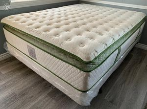 Organic europillop top full size Mattress with boxpring Included for Sale in Fresno, CA