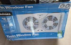 """Holmes Dual 8"""" Blade Twin Window Fan with LED One Touch Thermostat Control for Sale in Chandler, AZ"""