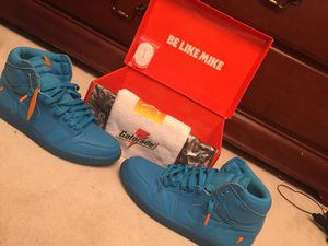 "Air Jordan retro 1 ""Gatorade blue "" size 11 for Sale in Ashburn, VA"