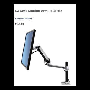 Be more productive with a LX desk monitor Arm Pole for Sale in Wenatchee, WA
