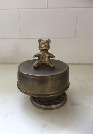 Vintage brass teddy bear music box for Sale in Seattle, WA
