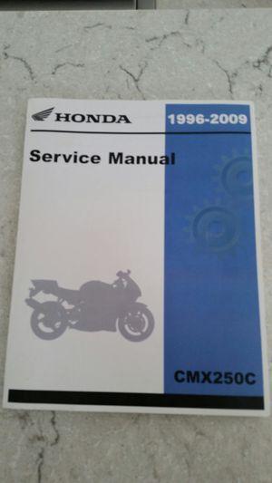 Honda cmx 250 service manual for Sale in Wilsonville, OR
