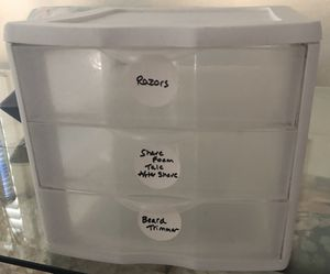 3 drawer plastic organizing container for Sale in Pleasanton, CA