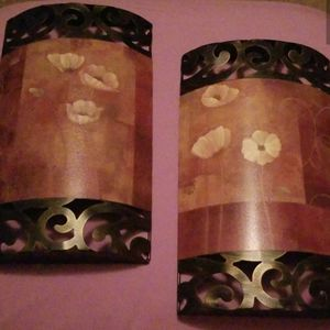"Metal wall decor, set of 2 each 14"" x 8"" for Sale in Murfreesboro, TN"