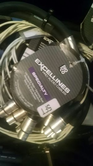 Excellines pro audio cables for Sale in Castle Rock, CO