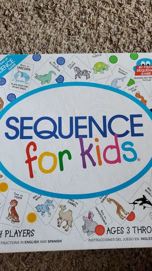 Sequence board game for kids for Sale in Eden Prairie, MN