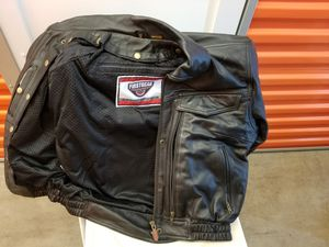 NEW women's First gear leather motorcycle jacket with zip in liner Size 38w for Sale in Santa Monica, CA