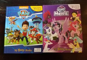 New paw patrol and my little pony busy books for Sale in Hayward, CA
