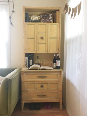 Yellow Wooden Cabinet for Sale in West Palm Beach, FL