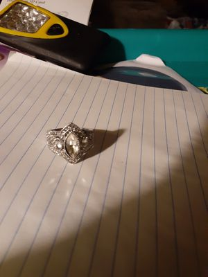 White sapphire silver ring size 9 for Sale in Smyrna, TN