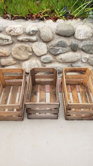 Rustic wood crates set of 3 for Sale in Whittier, CA