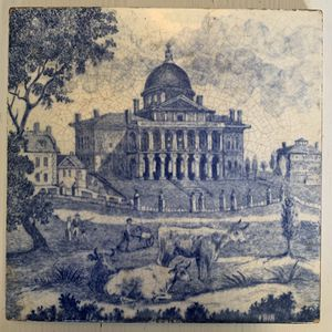 Minton China Works Stoke on Trent Tile - State House Boston 1818 for Sale in Falls Church, VA