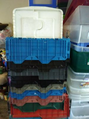 Flap lid totes 4.00 each for Sale in Nashville, TN