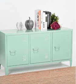 .Matapouri 3-Doors Green Metal Accent Cabinet TV Stand With Storage for Sale in Houston,  TX