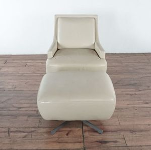 Leather Armchair and Ottoman (1023578) for Sale in South San Francisco, CA