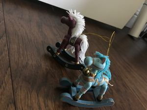 Rocking horse Christmas ornaments for Sale in Oakley, CA