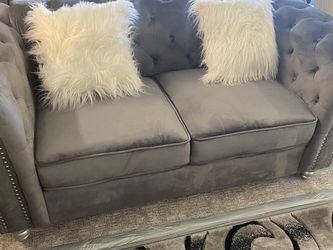 New!!! 🎯 2PC Grey Sofa & Loveseat Available Same Day Delivery for Sale in Las Vegas,  NV