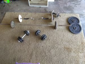 Weight Set Gym Lifting Exercise Workout for Sale in Kissimmee, FL