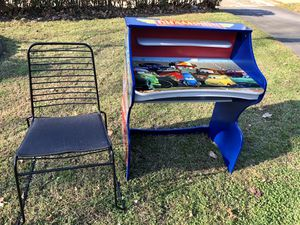 Cars kids desk with chair for Sale in Sayreville, NJ