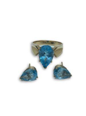 14k Blue Topaz Set for Sale in Alexandria, VA
