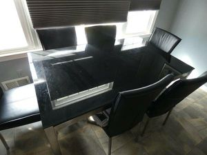 Glass Table with 6 Chairs for Sale in Fairfax, VA
