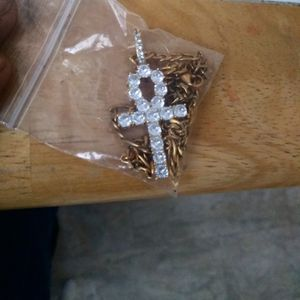 FADE RESISTANT 24Karat Gold Plated ANHK Cross + Free Chain for Sale in Pine City, NY