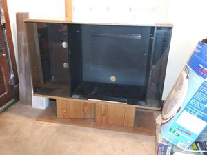 Heavy entertainment center free come and get if anybody wants for Sale in West Terre Haute, IN