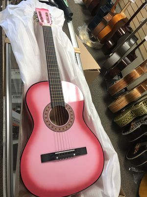 """Pink 38"""" acoustic guitar guitarra $20 new in factory box for Sale in Downey, CA"""