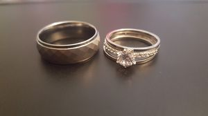 Set of Silver Wedding rings for Sale in Highland, CA