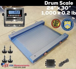 "24"" x 30"" NTEP Approved Drum Scale 1,000 x 0.2 lb for Sale in Ontario, CA"