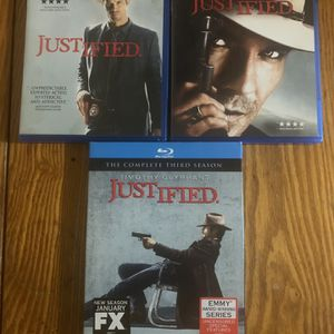Justified Seasons 1-3 Blu Ray for Sale in Whiteford, MD