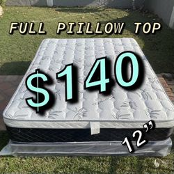 """BRAND NEW """"PILLOW TOP MATTRESSES""""✅ COLCHONES NUEVOS PILLOW TOP 💯 (Limited time only)3 Year Warranty!!! $20 Delivery FEE ✅ QUEEN MATTRESS $180❌ $240 for Sale in Anaheim,  CA"""