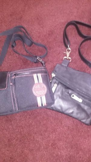 Harley-Davidson purse and leather motorcycle purse both in good condition for Sale in Jacksonville, FL