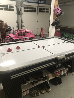 *USED* Sportscraft Air Hockey & Ping Table Reversible COMES WITH RACKETS, PUCKS, AND STICKS for Sale in Middletown, NJ