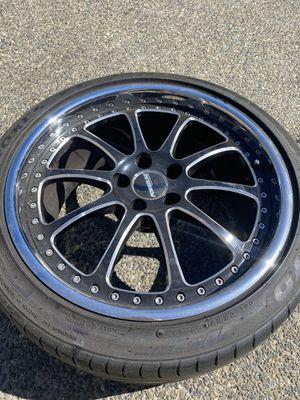 Set of 4 19x10 3 Piece Rims 5x112 bolt pattern for Sale in Everett, WA