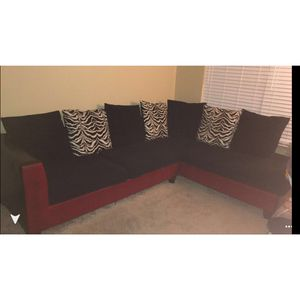 Red & Zebra Sectional for Sale in Columbus, OH