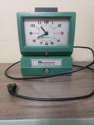 Acroprint time recorder model # 125NR4 for Sale in Potterville, MI