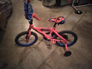 Two bikes spider Man and a girl pink bike for Sale in Columbus, OH