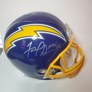 Chargers Hall of Famer FRED DEAN Signed Full Size Helmet AUTO w/ HOF '08 for Sale in Creve Coeur, IL