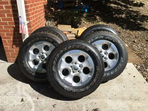 New Jeep Wrangler OEM Wheels & Tires (set of 5) for Sale in Falls Church, VA
