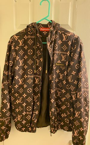 LV Supreme jacket very comfortable large for Sale in Alexandria, VA