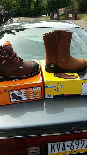 Brand New work boots never worn $80 for both pair!!! for Sale in Pittsburgh, PA