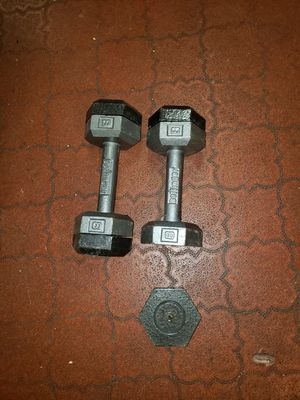 Adjustable hex dumbbells for Sale in North Olmsted, OH