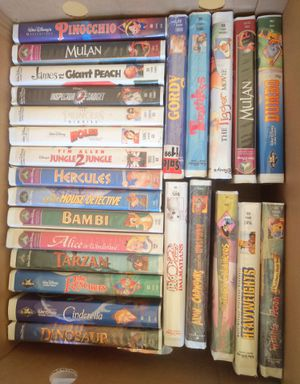 Box of Disney VHS movies for Sale in Sumner, WA
