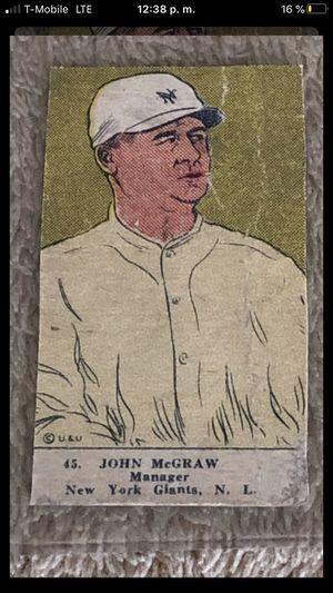 CARD BASEBALL 1923 W515-2 #45 John McGraw Giants HOF SGC !!! for Sale in Downey, CA
