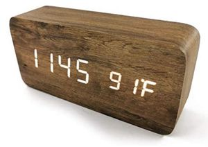 NEW Ytong Wood Grain Pattern Wooden Digital Clock, LED Smart Alarm Clock for Sale in Corona, CA