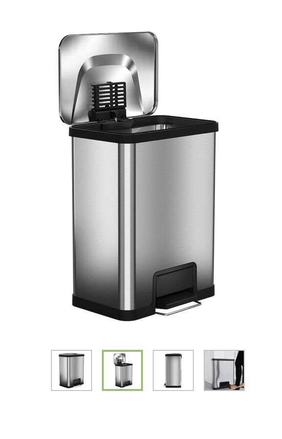 Itouchless 13 gallon airstep stainless steel trash can
