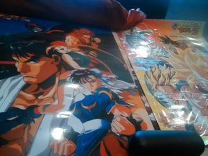 Street fighter 2 laminated art from japan for Sale in Union City, CA